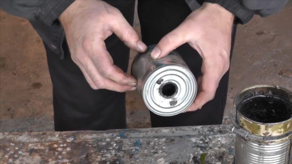 Процесс изготовления коптильни холодного копчения шаг 4