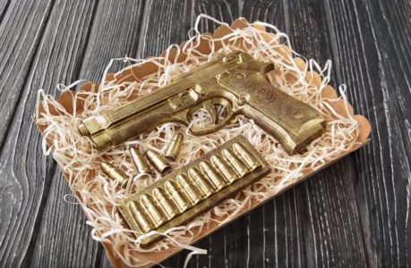 Шоколадный пистолет шаг 1