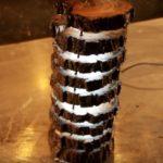 Оригинальный светильник из спила дерева своими руками