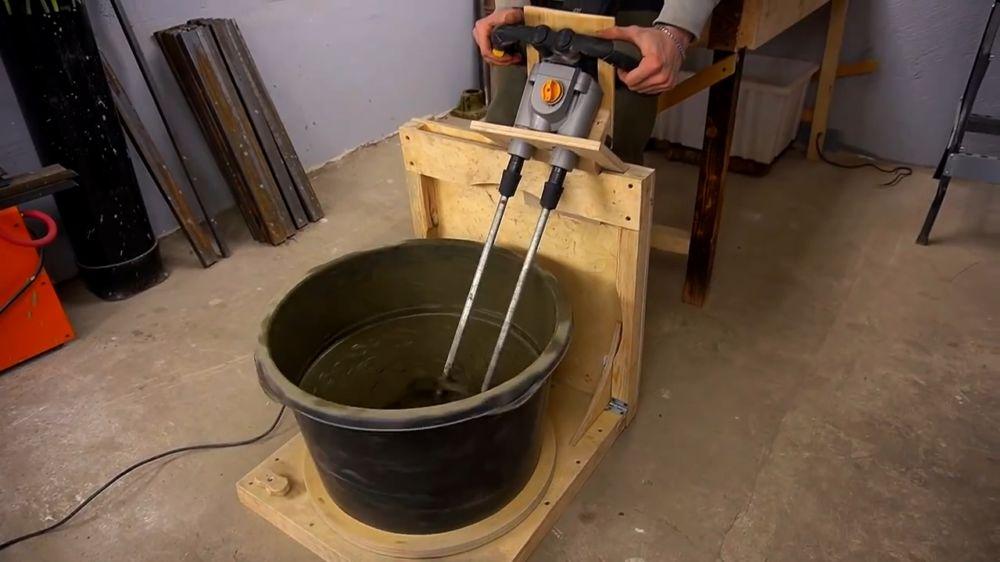 Ручная бетономешалка шаг 1