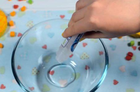 Процесс изготовления слайма флаффи шаг 10