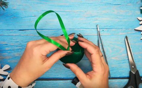 Процесс изготовления елочных шаров шаг 9
