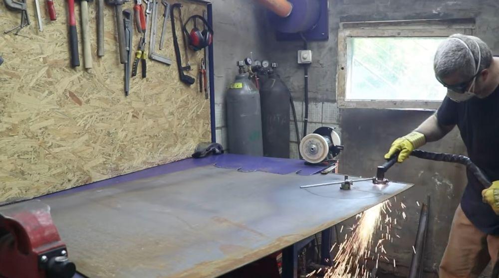 Процесс изготовления мангала гриля шаг 10