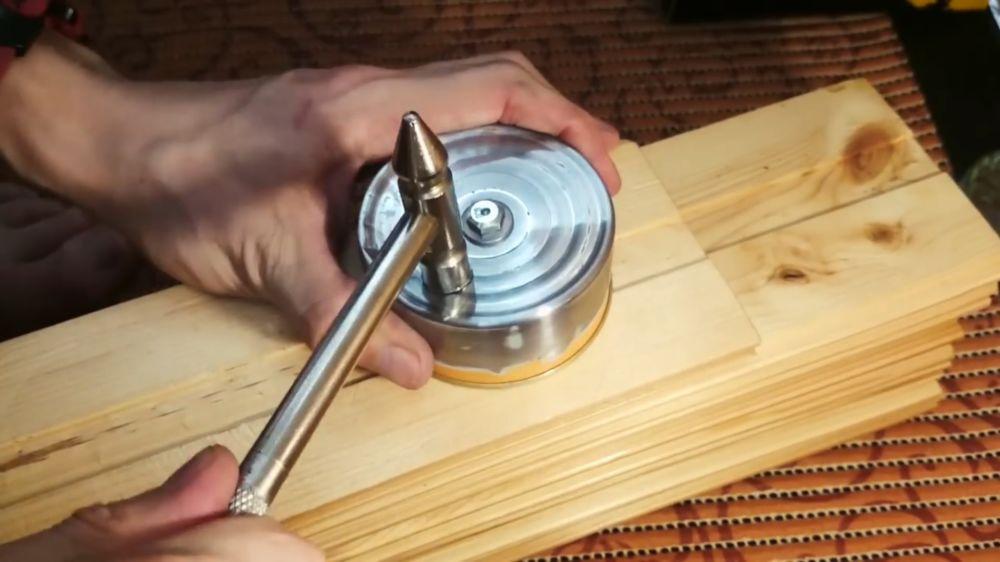 Процесс изготовления аппарата для сладкой ваты шаг 10