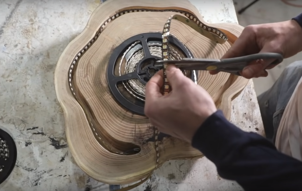 Процесс изготовления люстры лофт шаг 11