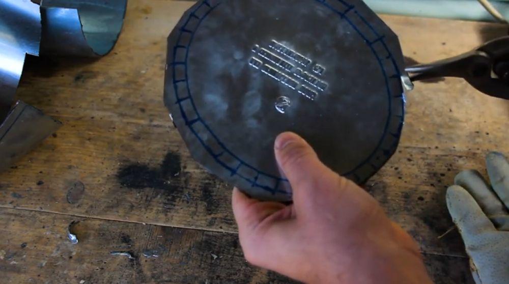 Процесс изготовления шлема рыцаря-крестоносца шаг 10