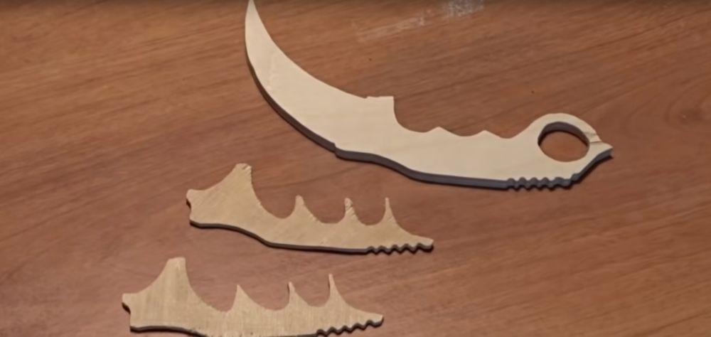 Процесс изготовления ножа керамбита шаг 11