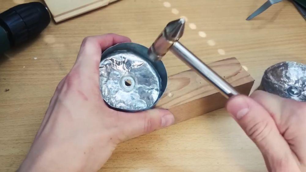 Процесс изготовления аппарата для сладкой ваты шаг 11