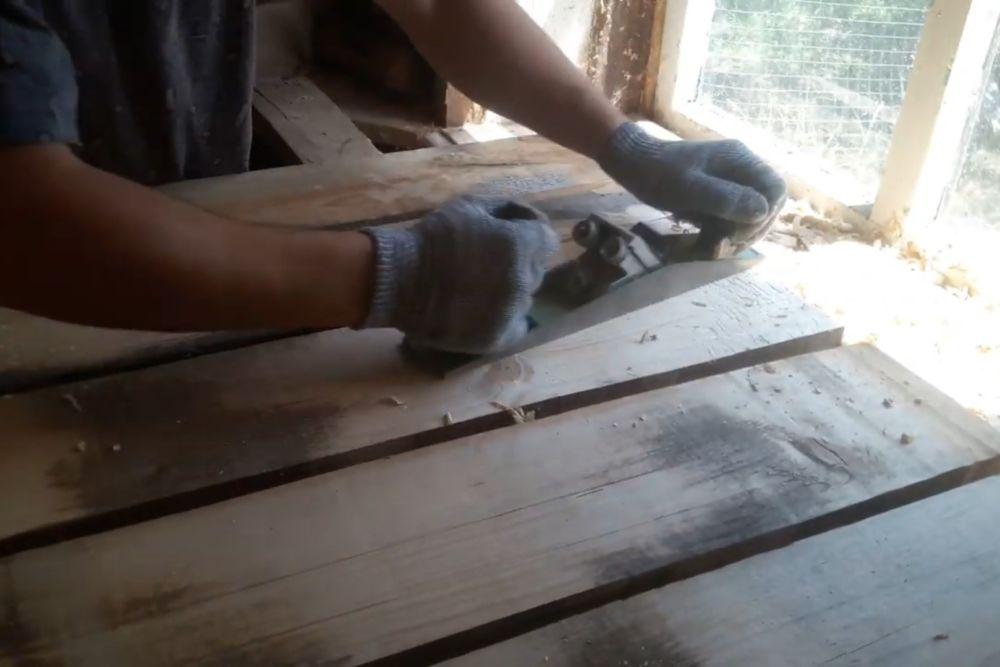 Процесс изготовления деревянного стола шаг 11