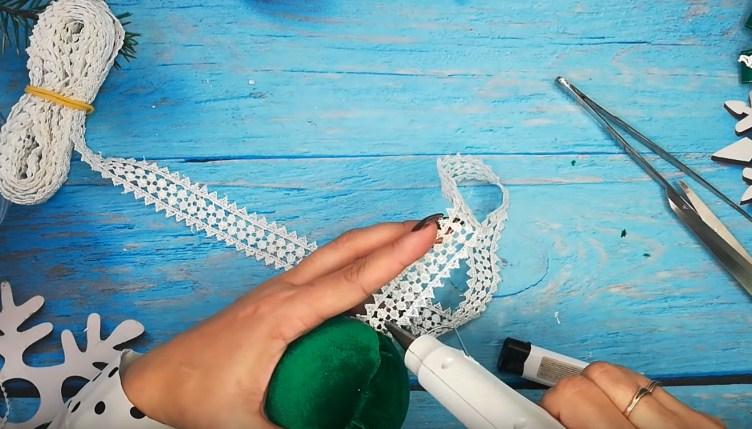 Процесс изготовления елочных шаров шаг 11