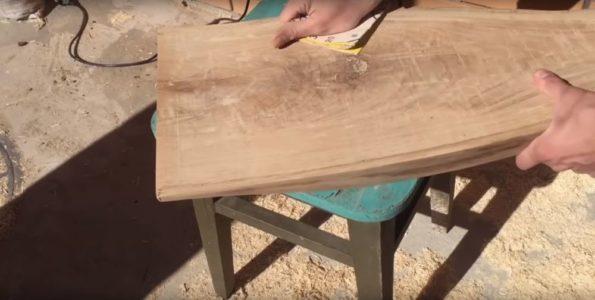 Процесс изготовления журнального столика лофт шаг 12
