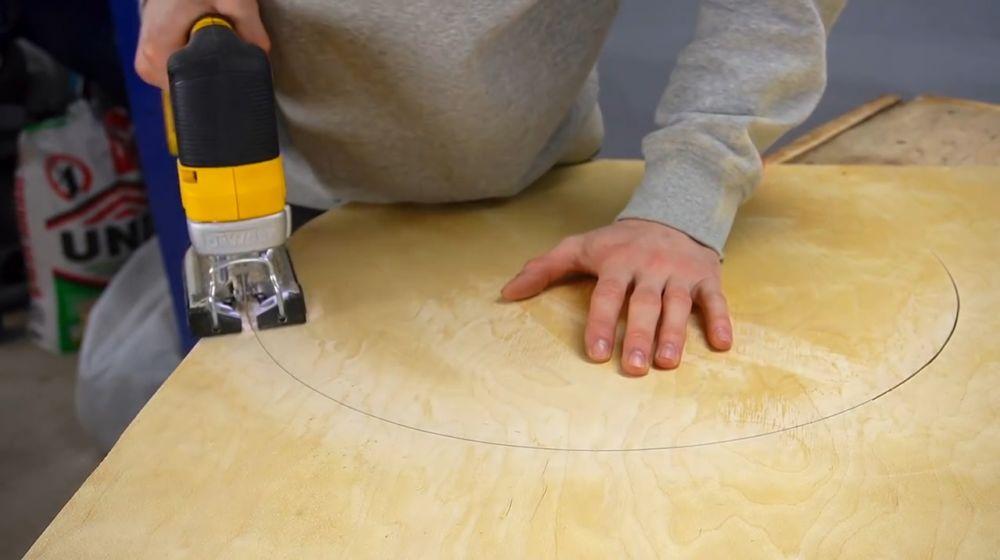 Процесс изготовления ручной бетономешалки шаг 12