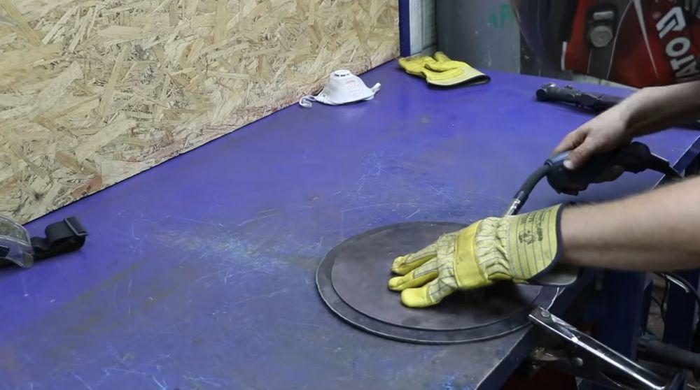 Процесс изготовления мангала гриля шаг 12