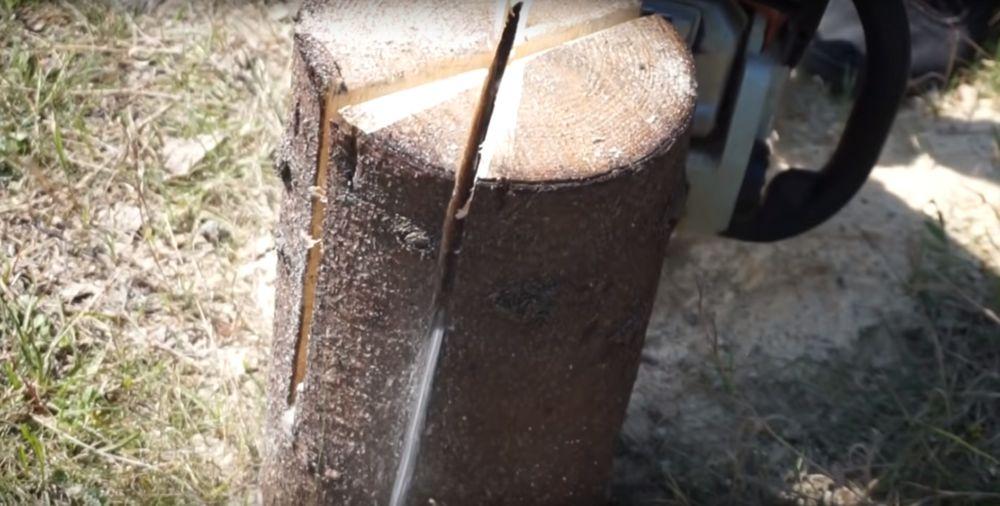 Процесс изготовления финской свечи шаг 8