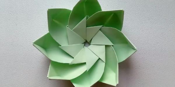 Цветок из бумаги. Оригами подарок украшение на 8 марта, день влюбленных
