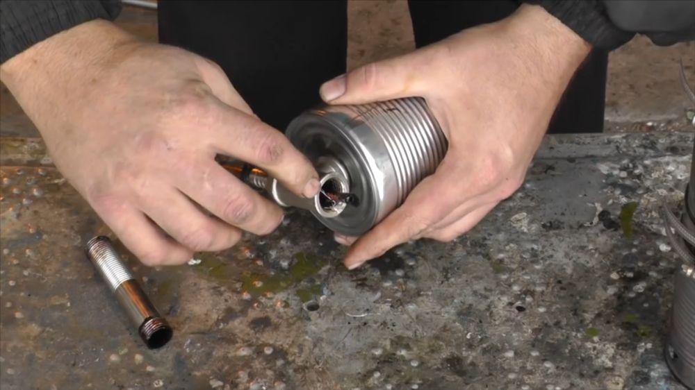 Процесс изготовления коптильни холодного копчения шаг 11