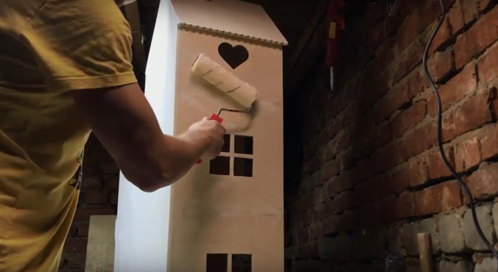 Процесс изготовления домика для барби шаг 13