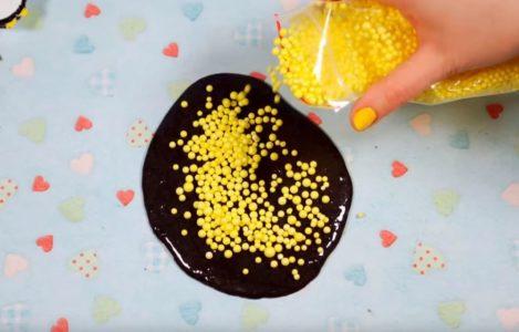 Процесс изготовления слайма из мыла шаг 13