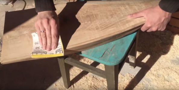 Процесс изготовления журнального столика лофт шаг 13
