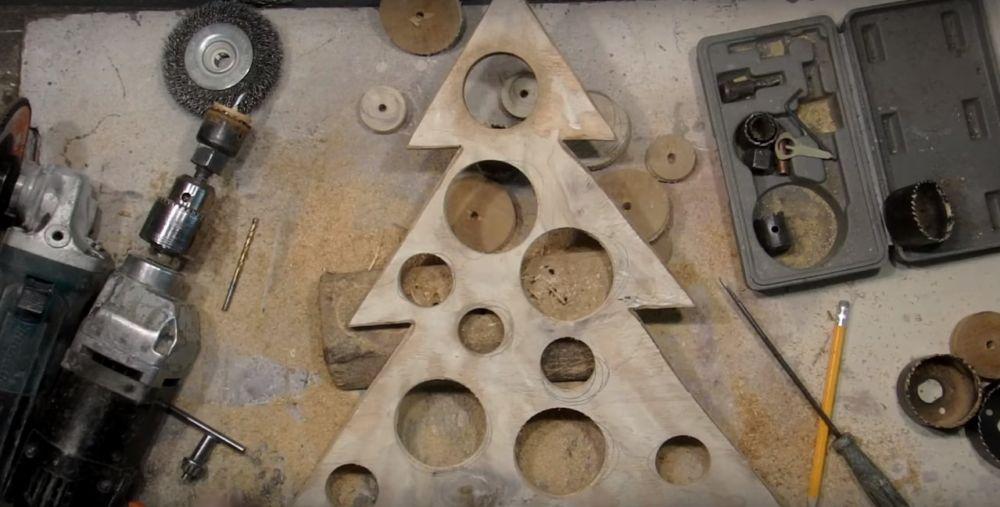 Процесс изготовления елки стимпанк шаг 12