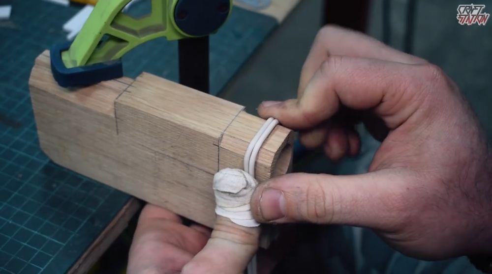 Процесс изготовления винтовки мондалорца шаг 13