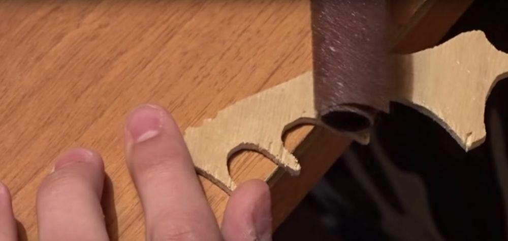 Процесс изготовления ножа керамбита шаг 13