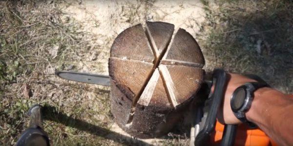 Процесс изготовления финской свечи шаг 13