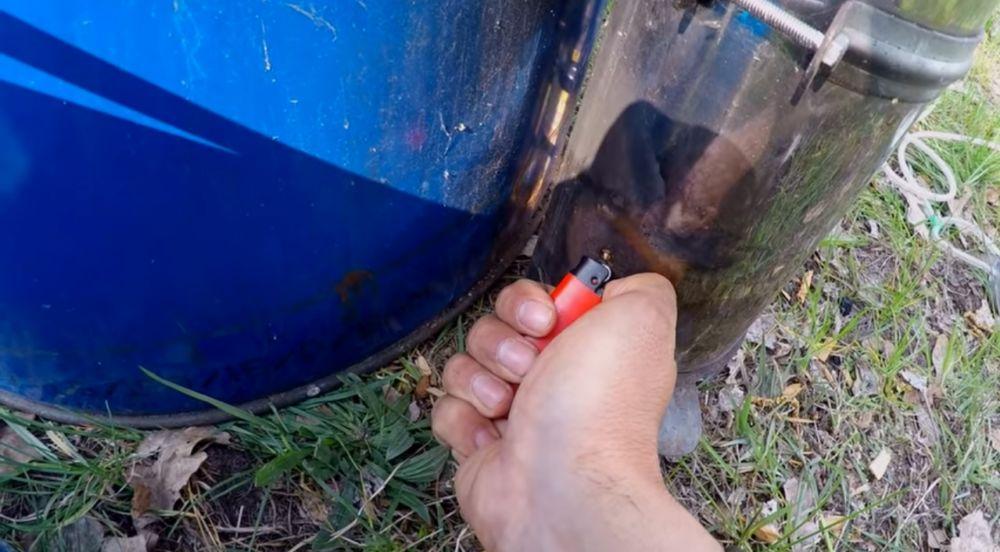 Коптильня холодного копчения из 200 литровой бочки