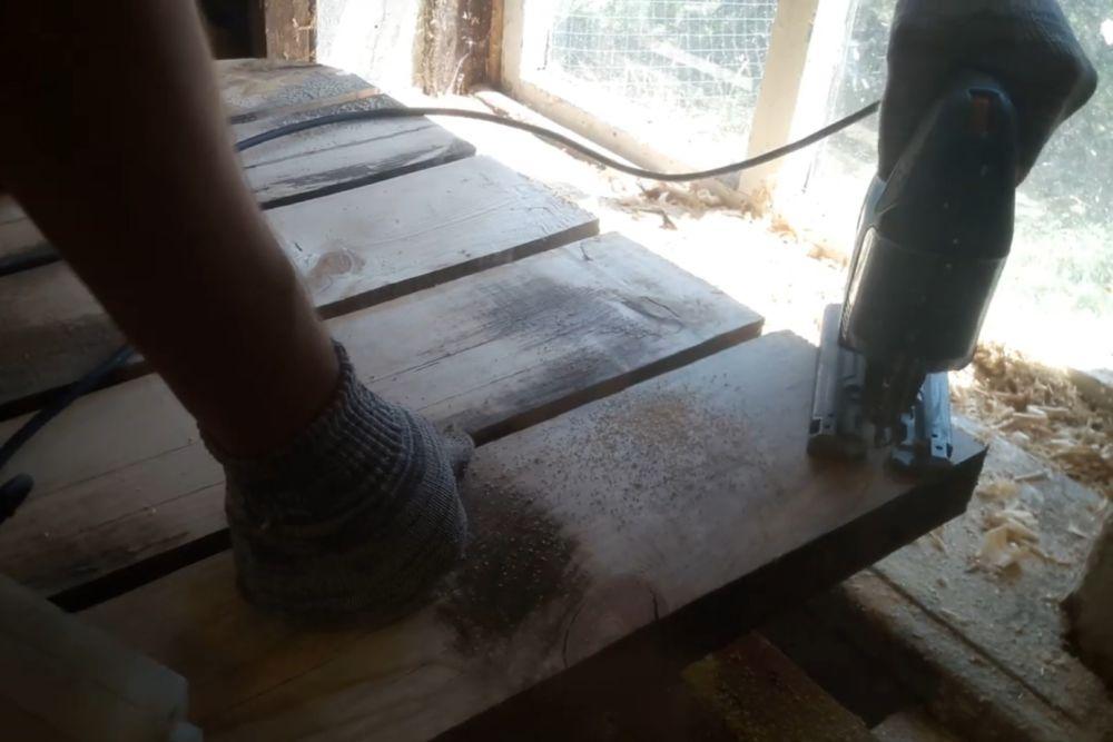 Процесс изготовления деревянного стола шаг 14