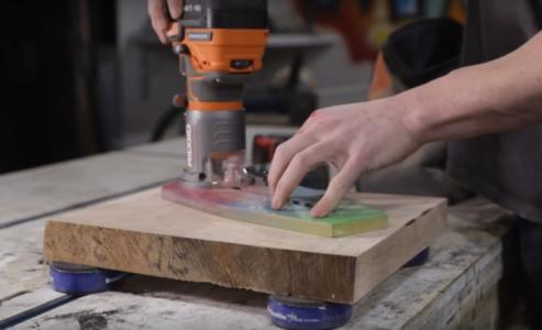 Процесс изготовления люстры лофт шаг 15
