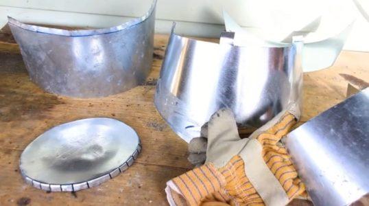 Процесс изготовления шлема рыцаря-крестоносца шаг 15