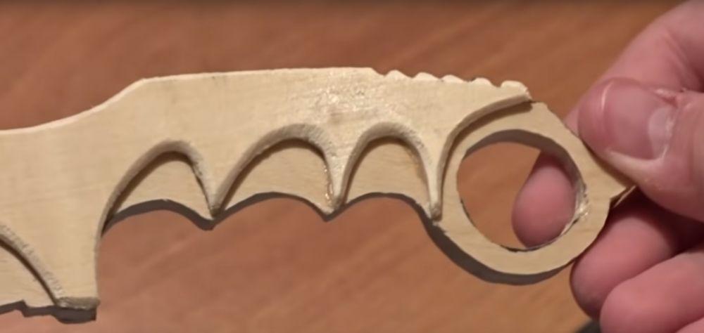 Процесс изготовления ножа керамбита шаг 15