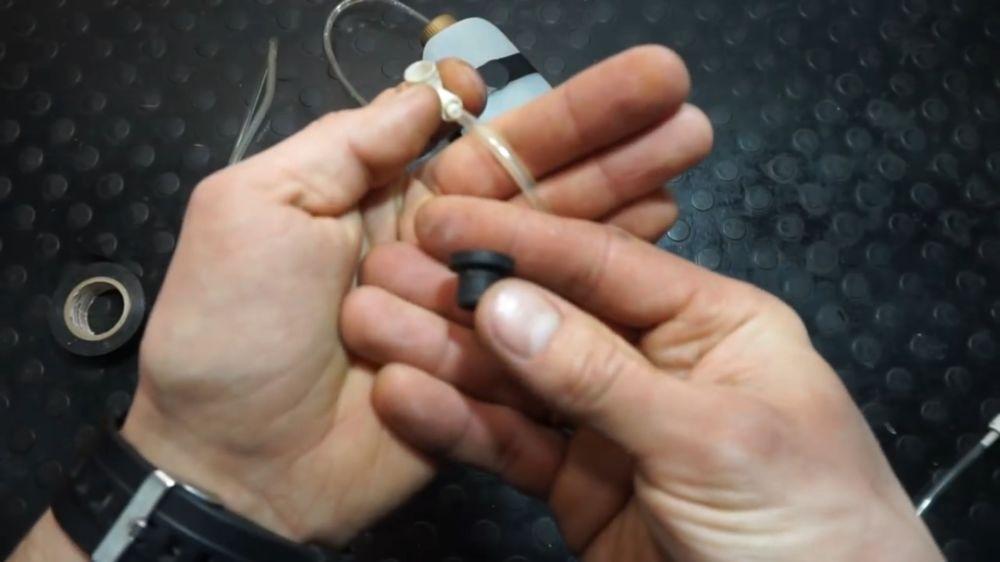 Процесс изготовления устройства для прокачки тормозов шаг 14