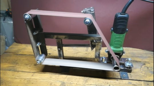 Процесс изготовления гриндера из болгарки шаг 16