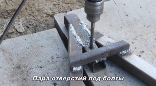 Сверление втулки под ручку