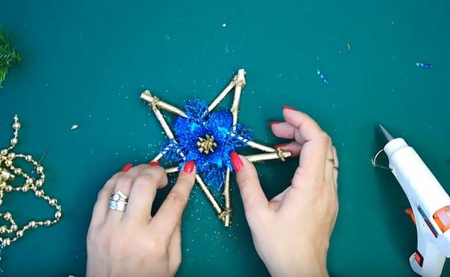 Процесс изготовления новогодних звезд шаг 15