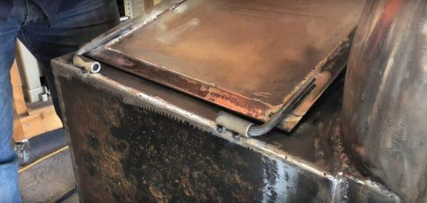 Процесс изготовления коптильни из газового баллона шаг 17