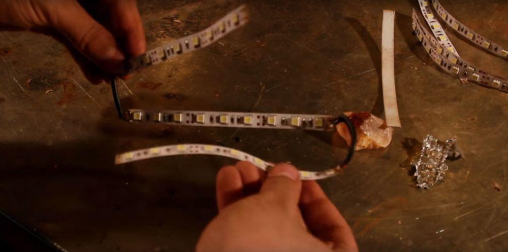 Процесс изготовления светильника из полена шаг 17
