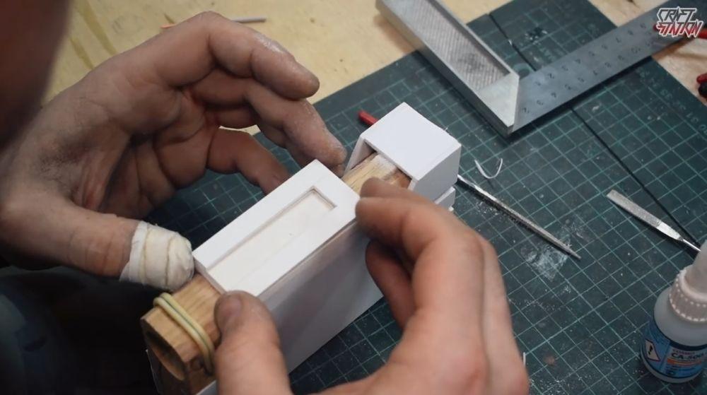 Процесс изготовления винтовки мондалорца шаг 17