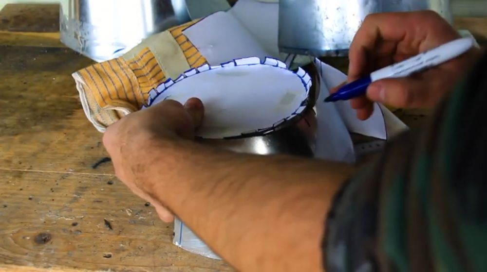 Процесс изготовления шлема рыцаря-крестоносца шаг 18