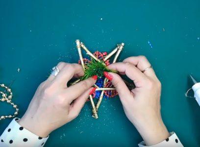 Процесс изготовления новогодних звезд шаг 17