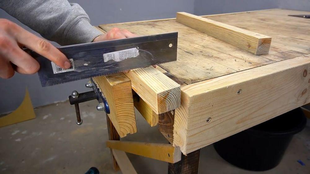 Процесс изготовления ручной бетономешалки шаг 19
