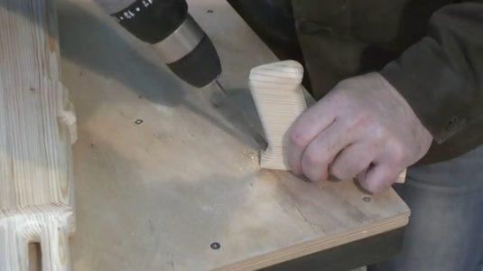 Сверление рукоятки