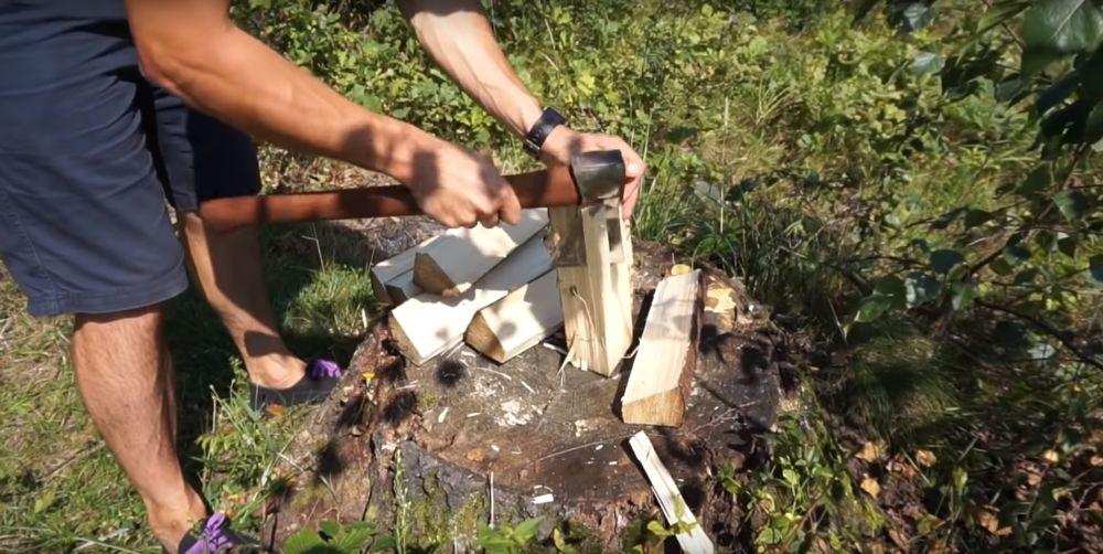 Процесс изготовления финской свечи шаг 15
