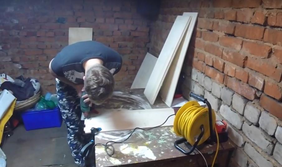 Процесс изготовления домика для барби шаг 2