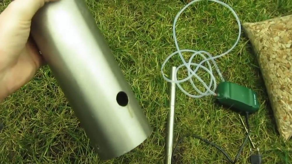 Процесс изготовления дымогенератора для холодного копчения шаг 1