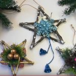 Новогодняя звезда из веток своими руками