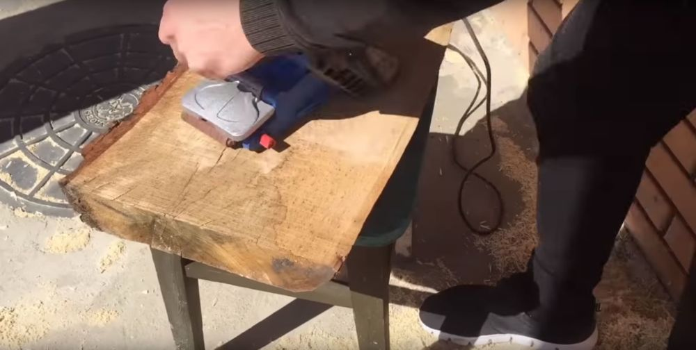 Процесс изготовления журнального столика лофт шаг 1