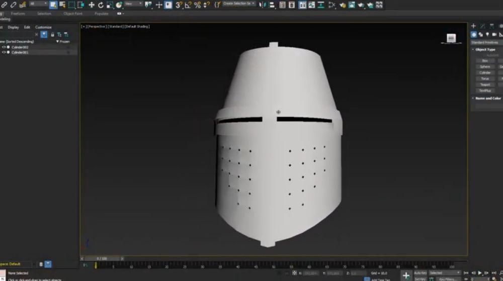 Процесс изготовления шлема рыцаря-крестоносца шаг 1
