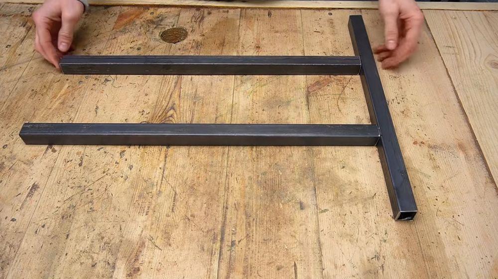 Процесс изготовления ручной бетономешалки шаг 2